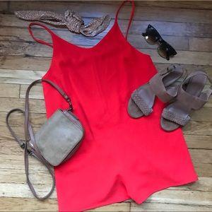 Topshop Red Short Romper - Size 6